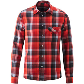 Maier Sports Lorensis T-shirt Manches longues Homme, red/black check